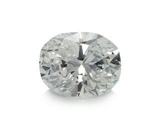 A 1.89 Carat Oval Brilliant Cut Diamond,