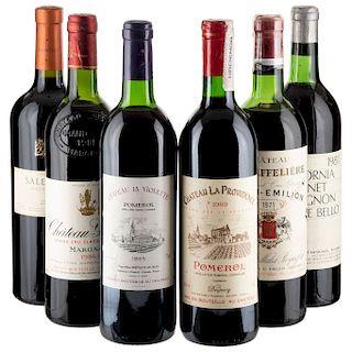 Vinos Tintos de Francia, Argentina y U.S.A. Château la Violette, Château Giscours, Château la Providence. Piezas: 6.