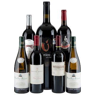 Vinos Tintos de Francia, España, México y Chile. Los Vascos, El Cardenal, Monte Xanic Cabernet Sauvignon. Piezas: 7.