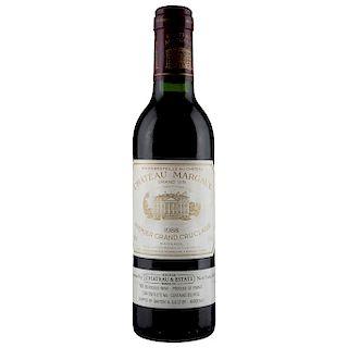 Château Margaux Media. Cosecha 1988. Grand Vin  Premier Grand Cru Classé. Margaux. Nivel: llenado alto.