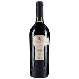 Baron de Chirel. Reserva 1996. Rioja. Nivel: en el cuello.