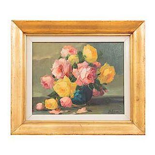 Francisco Urbina. Bouquet. Firmando en el ángulo inferior derecho. Óleo sobre tela. Enmarcado. Dimensiones: 26 x 34 cm.