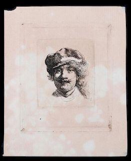 Rembrandt Van Rijn (1606 - 1669) Etching