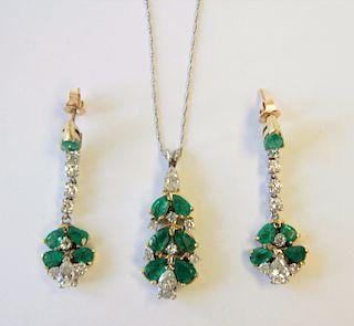 14k, Emerald & Diamond Suite
