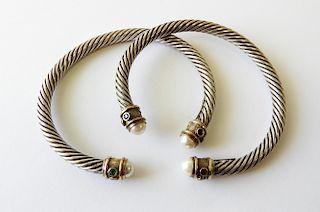 Two David Yurman Renaissance Bracelets