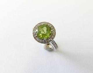 Sea Green Aquamarine Lady's Ring