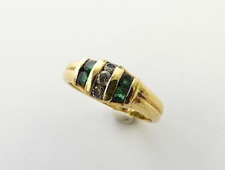 Tiffany & Co Diamond and Emerald Ring