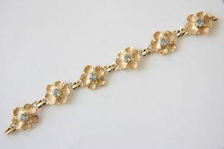 14K and Aquamarine Bracelet