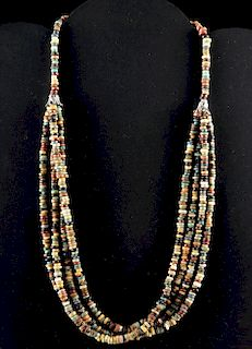 Egyptian Faience Beaded Necklace - Four Strands
