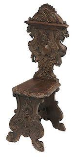 Italian Baroque Style Carved Walnut