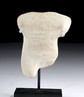 Greek Cycladic Marble Idol Torso - Spedos