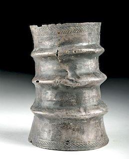 Mycenaean Stamped Silver Arm Cuff - 71.6 g