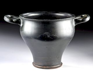 Large Greek Campanian Blackware Skyphos