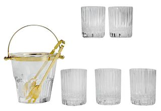 Baccarat Cut Crystal Ice Pail, Five