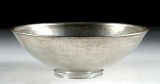 Desirable Hellenistic Silver Mastoid Bowl - 235.3 g