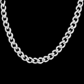 8.50ct TW Diamond and 18K Necklace