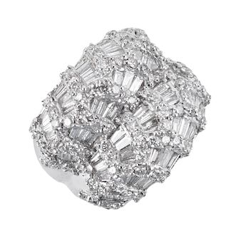 3.15ct TW Diamond and 18K Ring