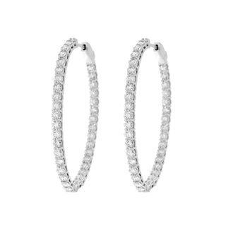 4.0ct TW Diamond Hoop Earrings