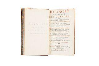 Prevost, Antoine Francois. Histoire Generale des Voyages... Tomo XLVIII. Tomo dedicado a la Nueva España.