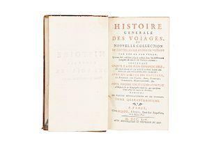 Prevost, Antoine Francois. Histoire Generale des Voyages... Paris, 1754. Tomo XLVI. Primeros Viajes y Expediciones Europeas en América.
