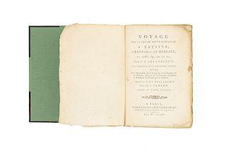 Stavorinus, Johan Splinter. Voyage par le Cap. de Bonne-Esperance a Batavia, a Bantam et au Bengale... Paris, 1798. 3 mapas plegados.