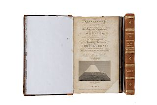 Humboldt, A. de. Researches, Concerning the Institutions & Monuments of the Ancient Inhabitants of America. London, 1814. Piezas: 2.