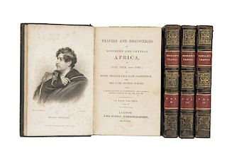 Clapperton, Hugh - Oudney, Walter - Denham, Dixon. Travels and Discoveries in Northern and Central Africa... London, 1831. Piezas: 4.