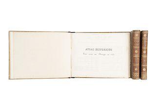 Beulloch, M. Le Mexique en 1823. Paris: Alexis - Eymery, Libraire, 1824. Texto y Atlas. Piezas: 3.