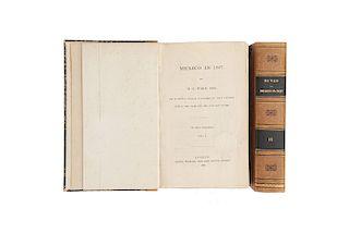 Ward, Henry George. Mexico in 1827. London, 1828. Piezas: 2. Una de las Narrativas más Valiosas de Viajeros en México en el S. XIX.