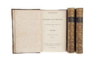 Hall, Basil. Fragments of Voyages and Travels. Edinburg, 1833. Tomos I - III. Piezas: 3.