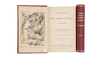 Burton, Richard Francis. Abeokuta and the Camaroons Mountains. An Exploration. London, 1863. Piezas: 2.