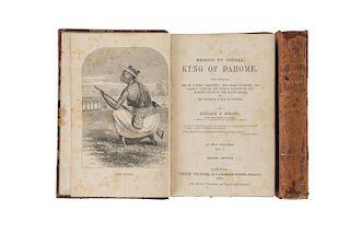 Burton, Richard Francis. A Mission To Gelele, King of Dahome... London, 1864. Piezas: 2.