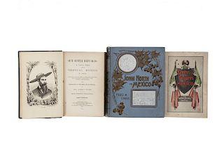 Ober, Fred A. / Evans, Albert S. Obras sobre Viajeros en México, Segunda Mitad del Siglo XIX. Pzs: 3.