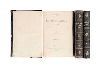 Fidel (Guillermo Prieto). Viaje a los Estados Unidos. México, 1878. Tomos II y III (tomo III, repetido). Piezas: 3.Piezas: 3.