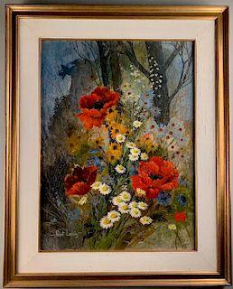 Robert Laessig (American 1913-2010) Poppies, Daisies,