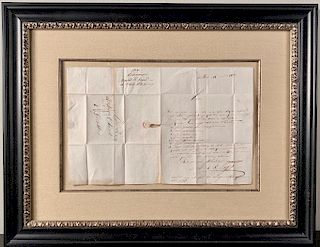 French Letter Dated 1809 from Bordeaux