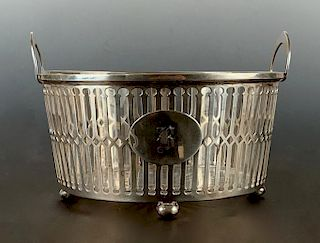 A Frank M.Whiting Sterling Basket with Glass Insert