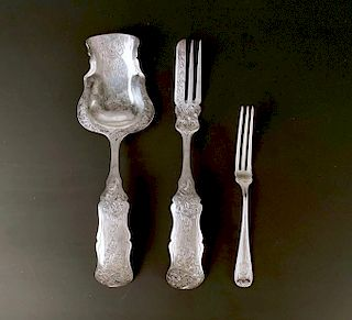 Dutch Silver Spoon and Fork, 1855