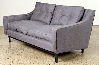 UPHOLSTERED SETTEE ON IRON FRAME BY KNOLL