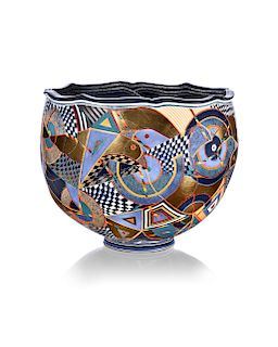 Ralph Bacerra,Large Decorated Bowl