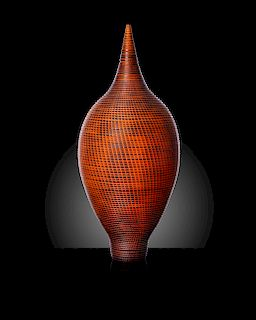 Lino Tagliapietra, Orange and Black Vessel