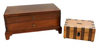 Two Inlaid Jewelry Boxes