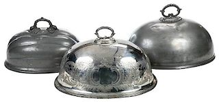 Three British 19th Century Meat Domes