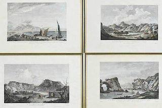Four French Engravings, Neapolitan Views