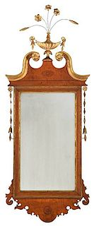 Federal Style Tiger Maple and Giltwood Mirror
