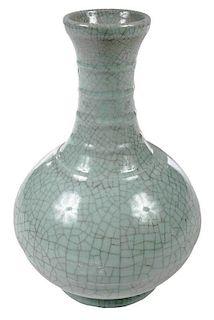 Chinese Celadon Crackle Vase