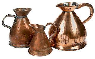 Three Copper Haystack Measures