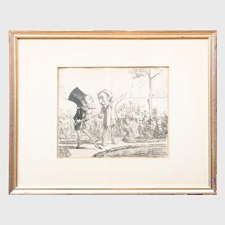 Honoré Daumier (1808 - 1879): Croquis de Chasse