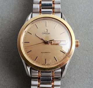 Omega 2-Tone Stainless Steel Date Watch