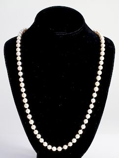 18K Gold & Diamonds & Pearls Opera Length Necklace